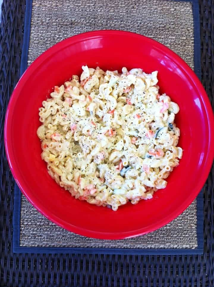 Eggy Mac Salad from Kathe with an E
