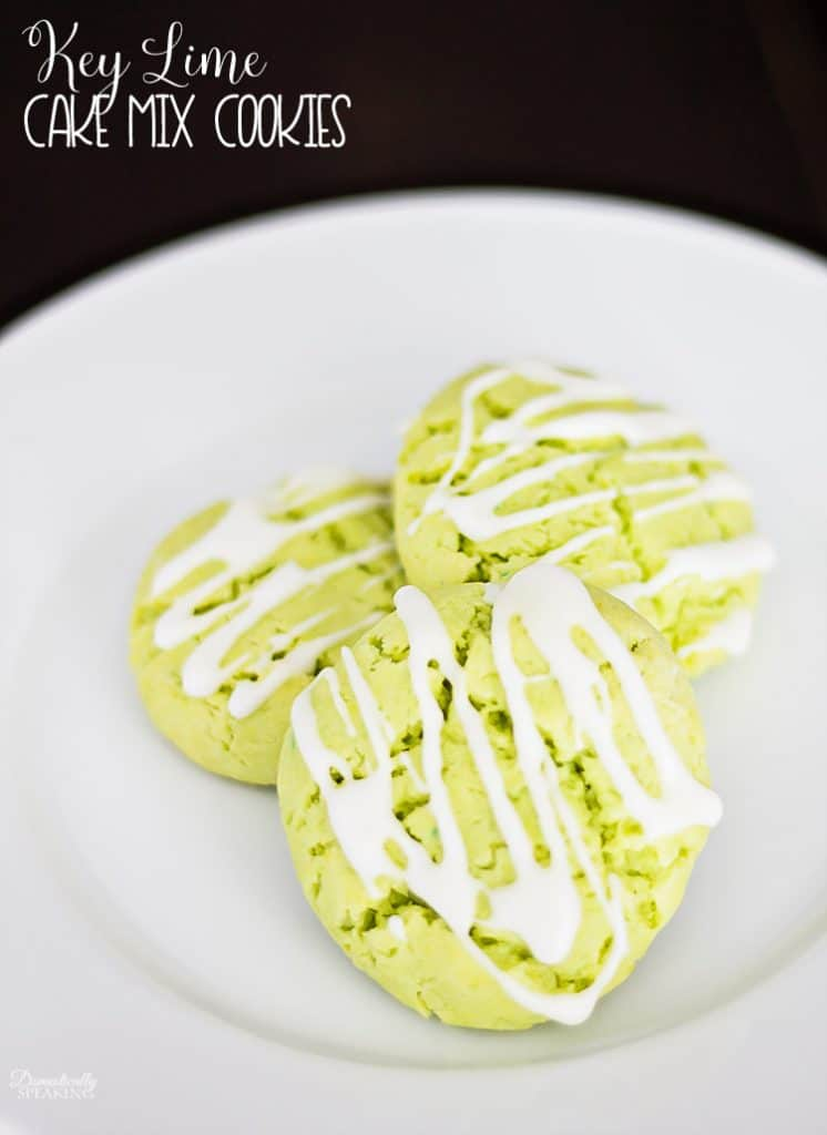 Easy Key Lime Cake Mix Cookies - just take minutes to make and they are the perfect spring & summer cookie!