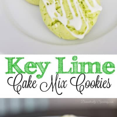 Key Lime Cake Mix Cookies with Icing