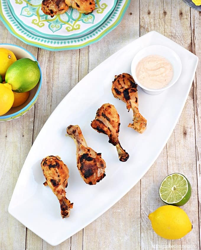 Lemon-Lime-and-Greek-Yogurt-Marinated-Chicken-Drumsticks from At the Picket Fence