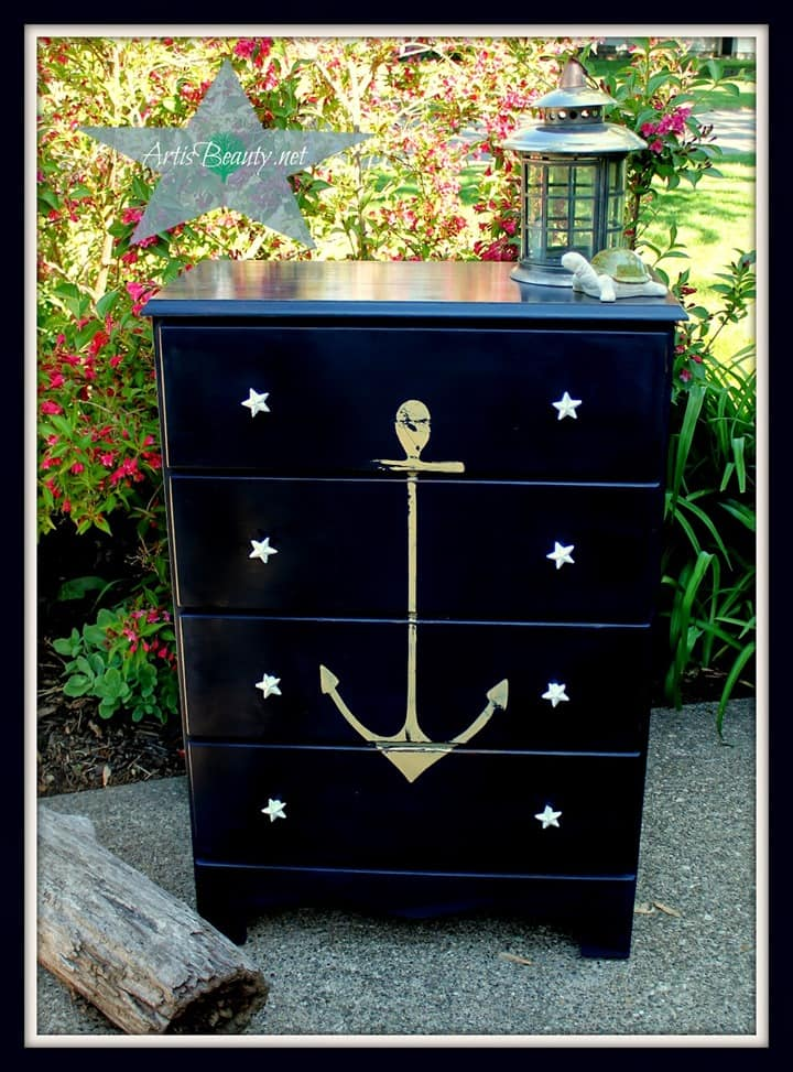Nautical Navy Dresser from Art is Beauty
