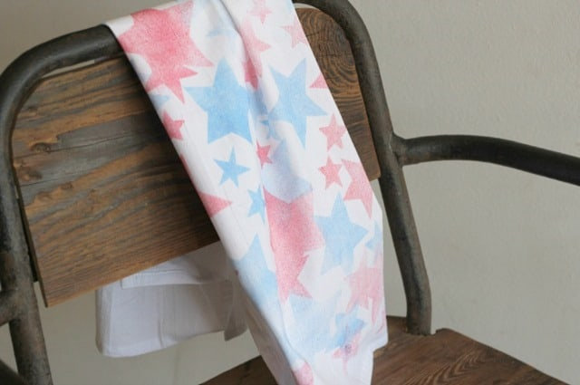 Patriotic Tea Towel from Sparkle Pants Girl