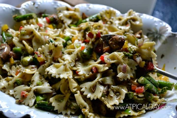 Pesto Pasta Salad from A TIPical Day