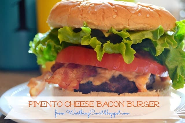 Pimento Cheese Bacon Burger Recipe from Worthing Court