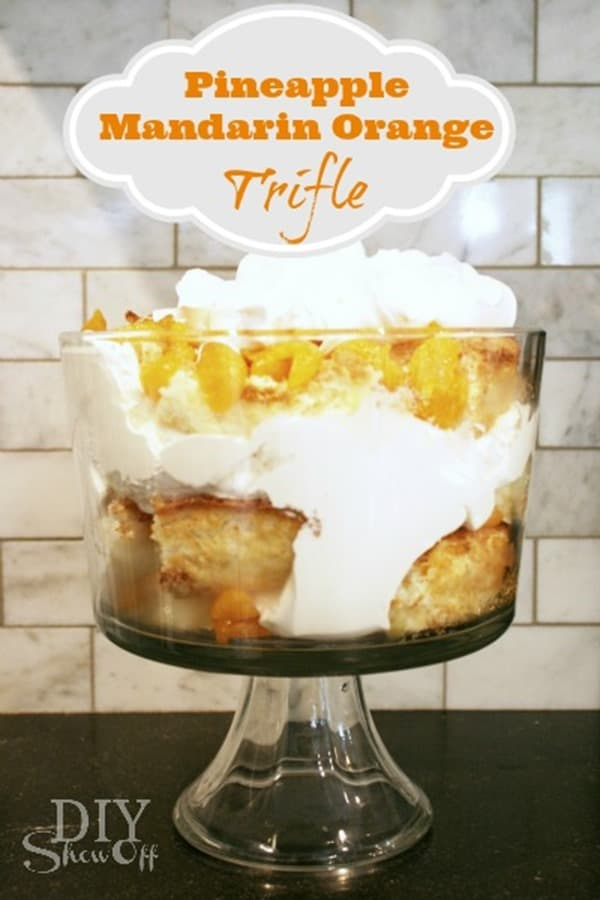 Pineapple Mandarin Orange Trifle from DIY Showoff