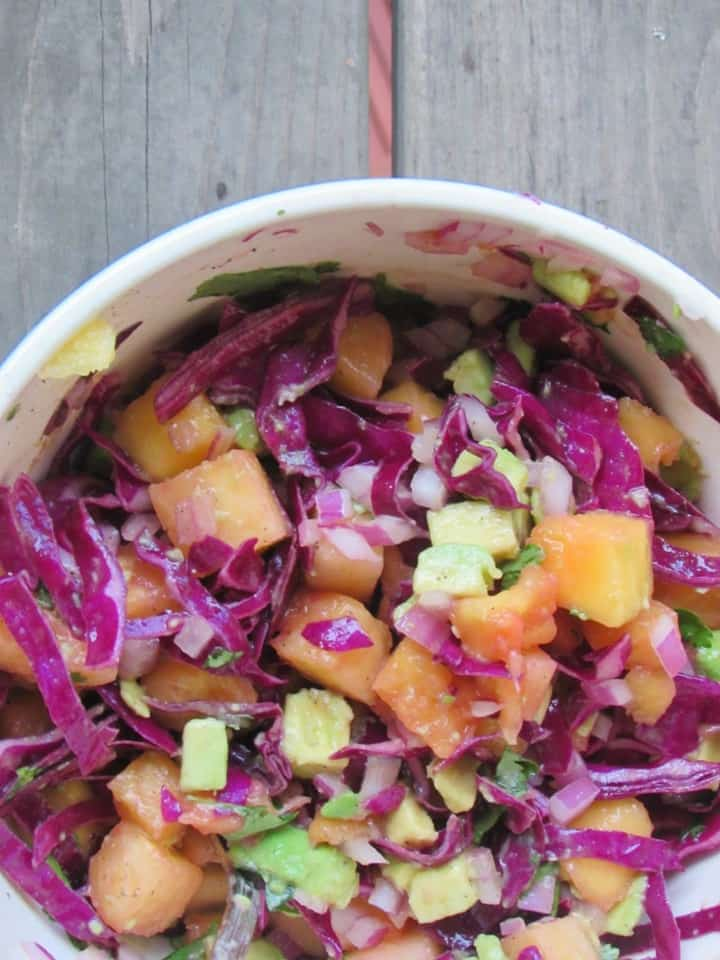 Pineapple Mango Slaw from Chicago Jogger