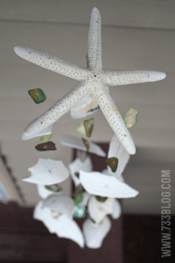 Diy seashell projects page 5 of 13 domestically speaking for Shell wind chimes diy