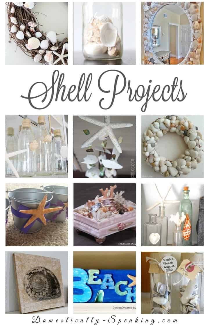 diy seashell projects domestically speaking. Black Bedroom Furniture Sets. Home Design Ideas
