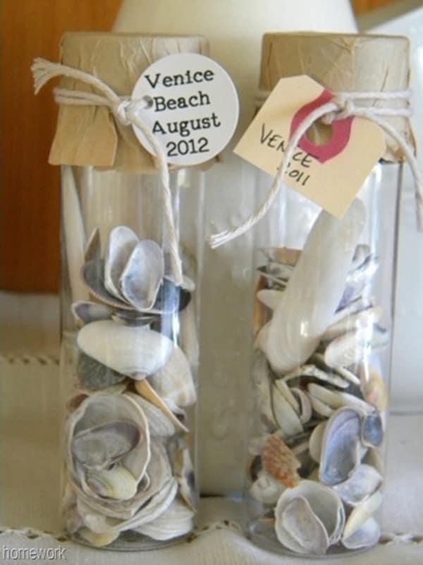 Shell Souvenir Jars from Homework