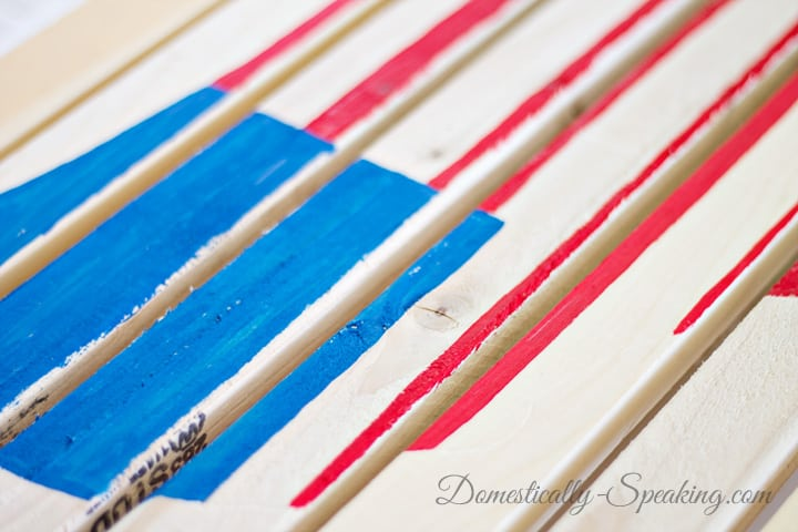 DIY Painted USA Flag Pallet Sign