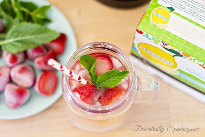 Strawberry Mint Lemonade and Iced Tea