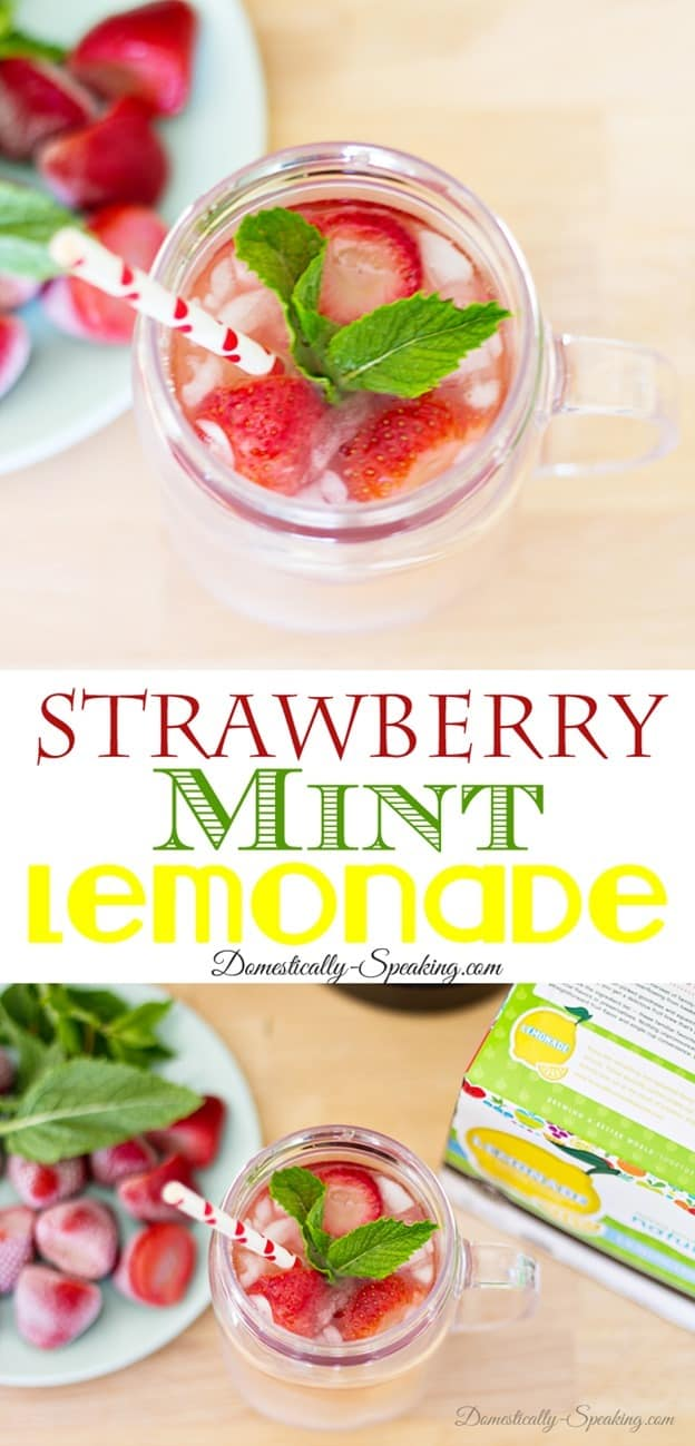 Strawberry Mint Lemonade and Ice Tea Recipe the perfect drink recipes during those hot months - cool, refreshing and delicious