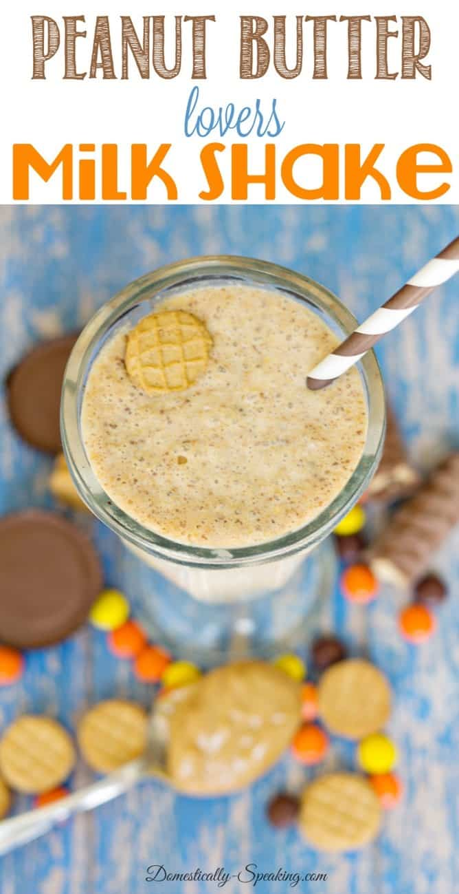Ultimate Peanut Butter Milk Shake... the shake for peanut butter lovers!