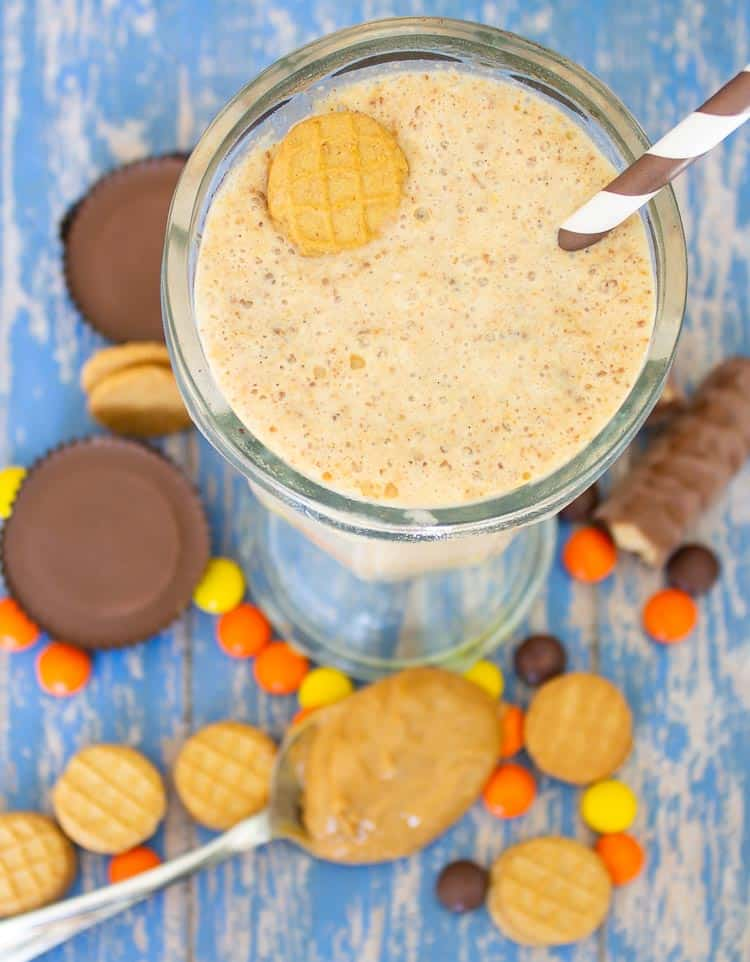 Ultimate Peanut Butter Lovers Milkshake is loaded with so many great peanut butter treats. If you love peanut butter you'll want to try this shake!