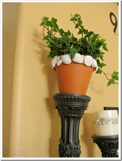 Shell Trimmed Pot looks great indoors