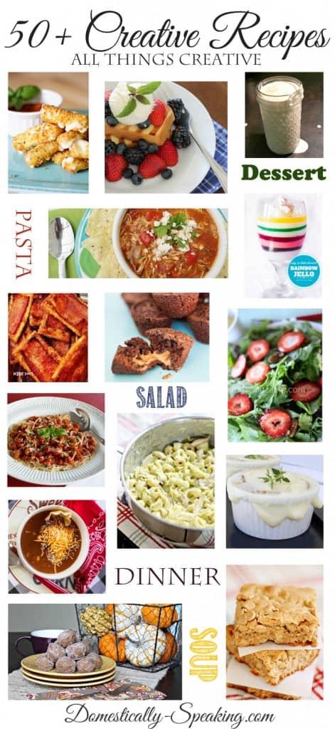 50+ Creative Recipes
