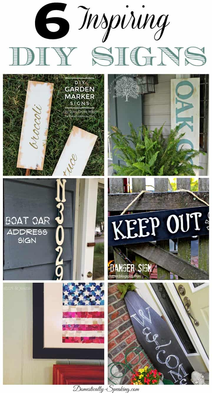 6 Inspiring DIY Signs