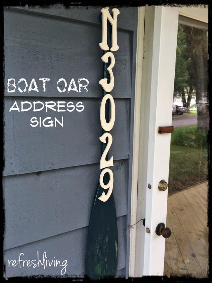 Boat Oar Address Sign from Refresh Living