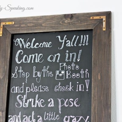 DIY Rustic Chalkboard for a Wedding