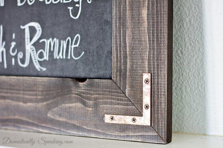 DIY Rustic Chalkboard Wedding Sign