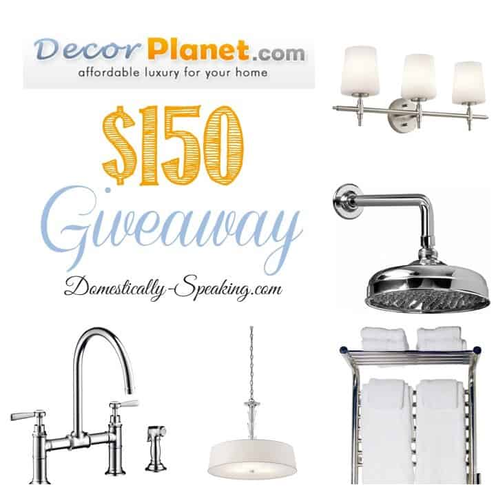 Enter to WIN DecorPlanet $150 Giveaway