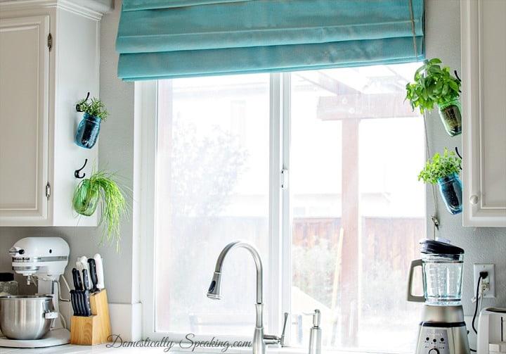 Hanging Window Herb Garden Part - 33: Hanging Herb Mason Jars
