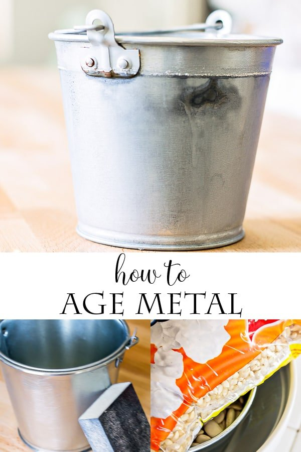 How to age metal with vinegar! The easy way to get the vintage, worn look with metal.