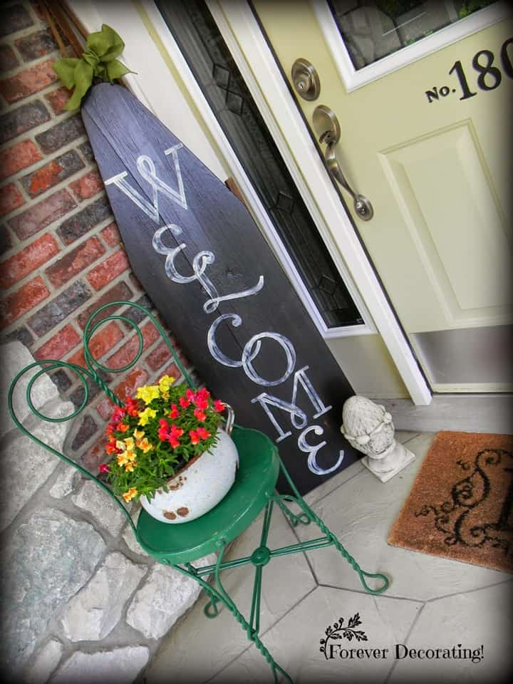 Ironing Board Welcome Sign from Forever Decorating
