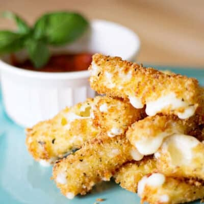 Mozzarella Sticks with String Cheese
