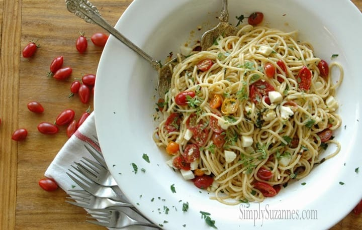 Summer Garden Pasta from Simply Suzannes