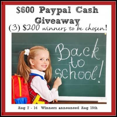 Back to School $600 PayPal Cash Giveaway!