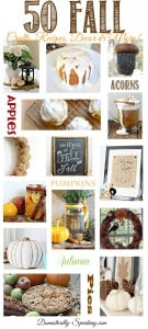 50 Fall Crafts, Decor, Recipes and More