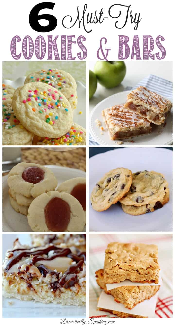 6 Must Try Cookies and Bars