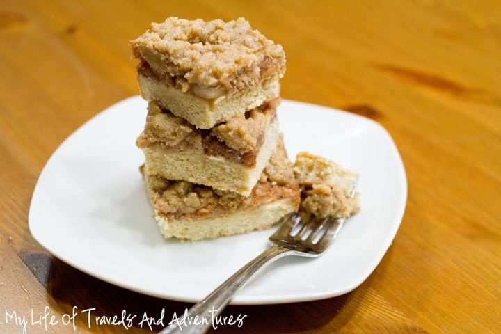 Apple Pie Bars from My LIfe of Travels and Adventures