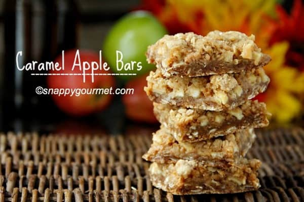 Caramel Apple Bars from Snappy Gourmet