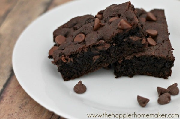 Chocolate Fudge Cookie Bars from The Happier Homemaker