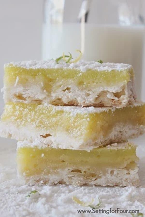 Coconut Lemon Lime Bars from Setting for Four