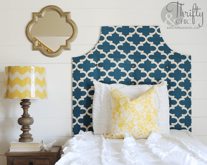 Curved Upholstered Headboard from Thrifty and Chic