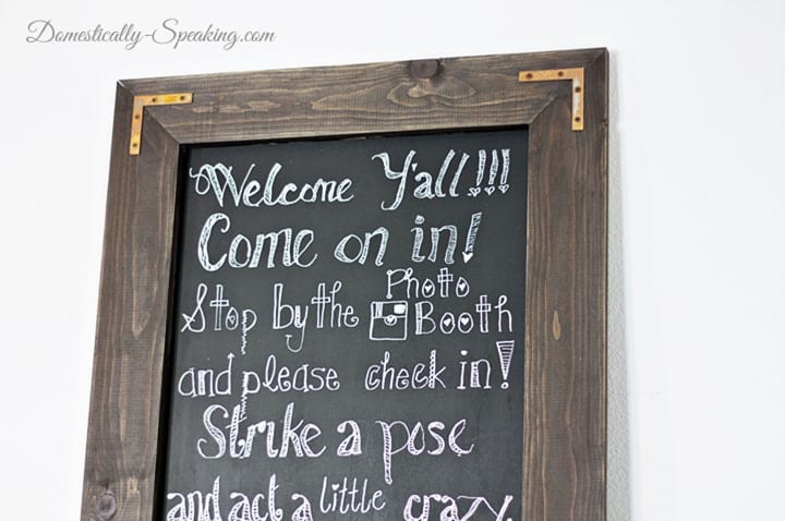 DIY Rustic Chalkboard Wedding Sign
