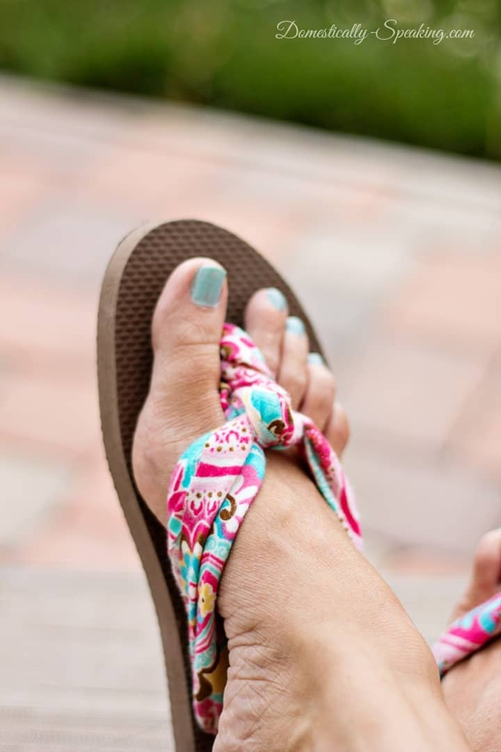 Fabric Flip Flops 2