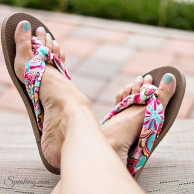 Fabric Flip-Flops… I Tried a Pin