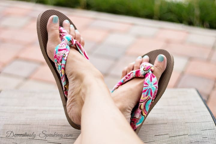 Cute knot-tied fabric flip flops from cheap flip flops