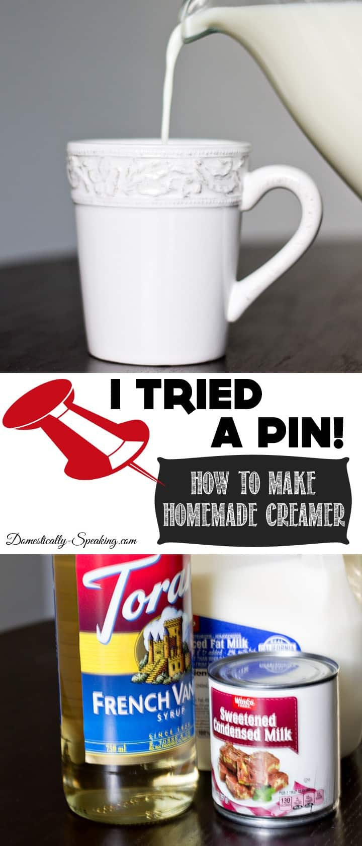 I Tried A Pin Making Homemade Creamer