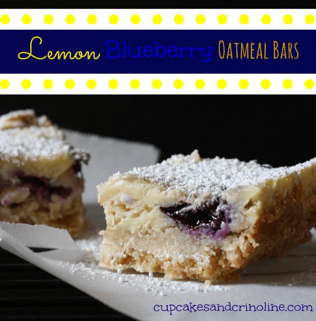 Lemon Blueberry Oatmeal Bars
