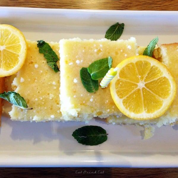 Lemon Cake Birthday Bars from Eat Drink Eat