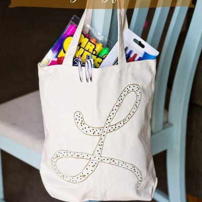 Back to School Teacher's Monogrammed Bag