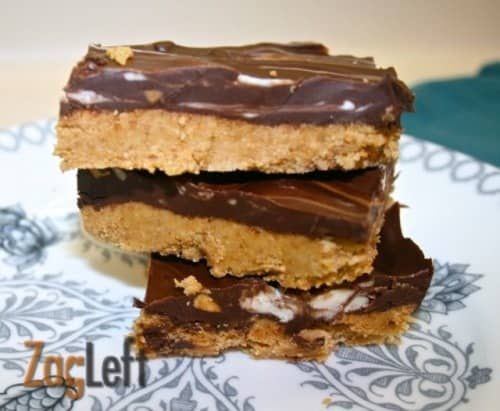 No Bake Chocolate Peanut Butter Cookie Bars from Zagleft