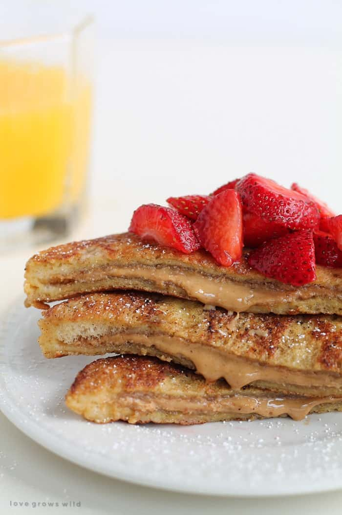 Peanut Butter Stufed French Toast from Love Grows Wild