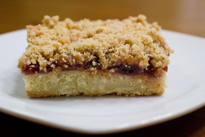 Peanut Butter and Jelly Bars from My Life of Travels and Adventures