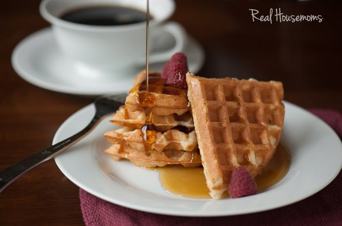 Perfect Waffles from Scratch from Real House Moms